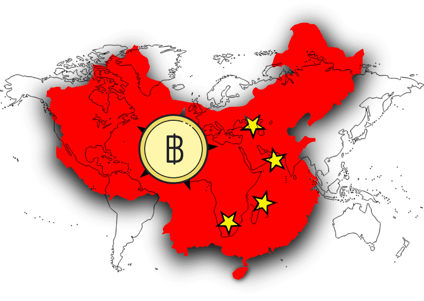 china map bitcoin cryptocurrency